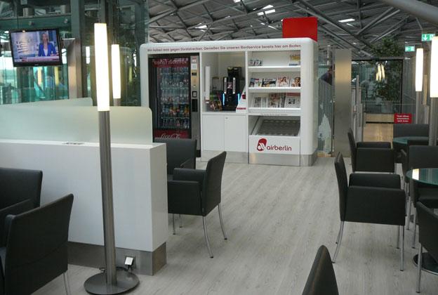 Air berlin wartebereich flughafen k ln bonn seidl for Innenarchitektur bonn